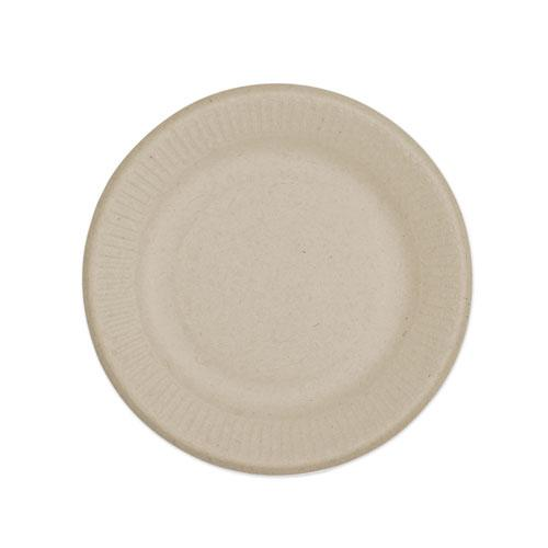 "Fiber Plates, Ripple Edge, 6"", Natural, 1,000/Carton. Picture 1"