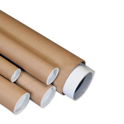"""Heavy-Duty Kraft Mailing Tubes, 3"""" x 30"""", Brown, 24/Carton. Picture 1"""