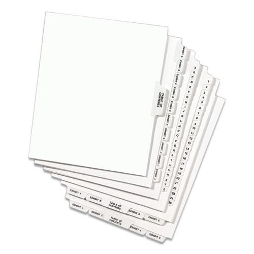 Avery-Style Preprinted Legal Side Tab Divider, Exhibit A, Letter, White, 25/Pack, (1371). Picture 6