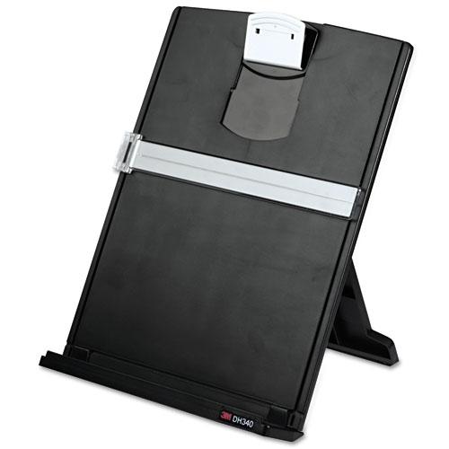 Fold-Flat Freestanding Desktop Copyholder, Plastic, 150 Sheet Capacity, Black. Picture 2