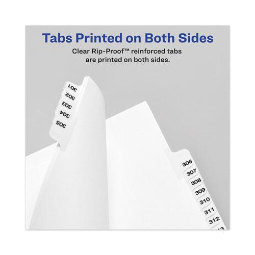 Avery-Style Preprinted Legal Side Tab Divider, Exhibit M, Letter, White, 25/Pack, (1383). Picture 4