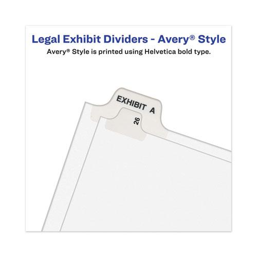 Avery-Style Preprinted Legal Side Tab Divider, Exhibit D, Letter, White, 25/Pack, (1374). Picture 6