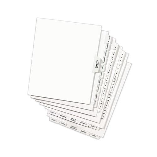 Avery-Style Preprinted Legal Bottom Tab Divider, Exhibit H, Letter, White, 25/PK. Picture 3
