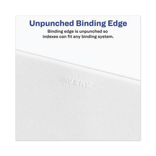 Avery-Style Preprinted Legal Bottom Tab Divider, Exhibit H, Letter, White, 25/PK. Picture 4