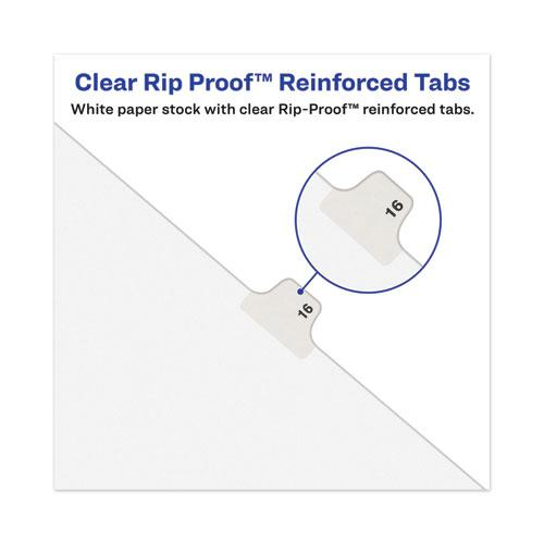 Avery-Style Preprinted Legal Side Tab Divider, Exhibit Q, Letter, White, 25/Pack, (1387). Picture 2