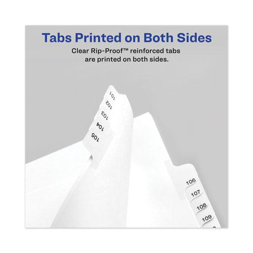 Avery-Style Preprinted Legal Bottom Tab Divider, Exhibit C, Letter, White, 25/PK. Picture 6