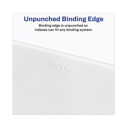 Avery-Style Preprinted Legal Side Tab Divider, Exhibit A, Letter, White, 25/Pack, (1371). Picture 2