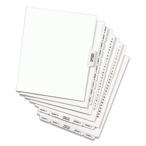 Avery-Style Preprinted Legal Side Tab Divider, Exhibit D, Letter, White, 25/Pack, (1374). Picture 5
