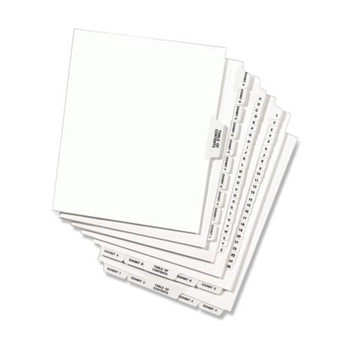 Avery-Style Preprinted Legal Side Tab Divider, Exhibit Q, Letter, White, 25/Pack, (1387). Picture 4