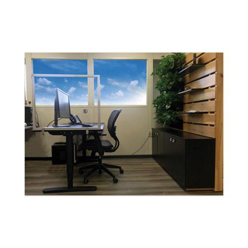Desktop Acrylic Protection Screen, 29 x 1 x 24, Clear. Picture 2