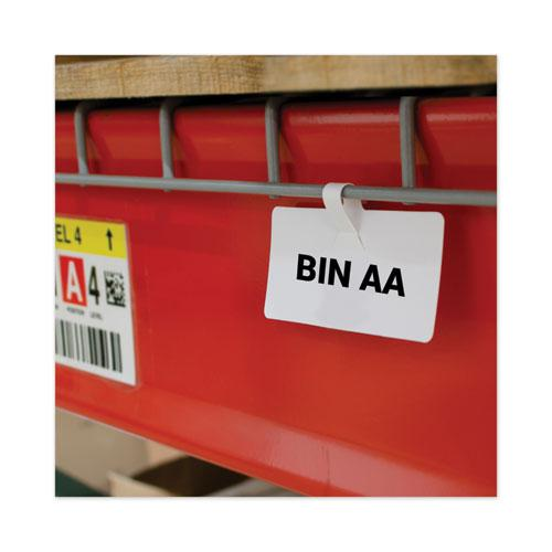 Wire Rack Shelf Tag, Side Load, 3.5 x 1.5, White, 10/Pack. Picture 1