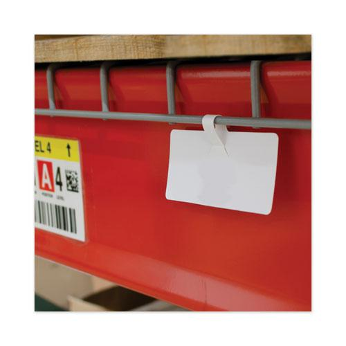 Wire Rack Shelf Tag, Side Load, 3.5 x 1.5, White, 10/Pack. Picture 3