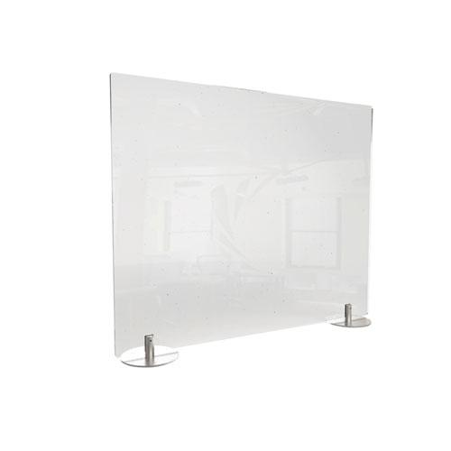 Desktop Free Standing Acrylic Protection Screen, 29 x 5 x 24, Clear. Picture 1