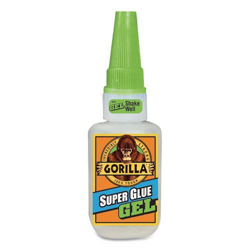 Super Glue Gel, 0.53 oz, Dries Clear, 4/Carton. Picture 4