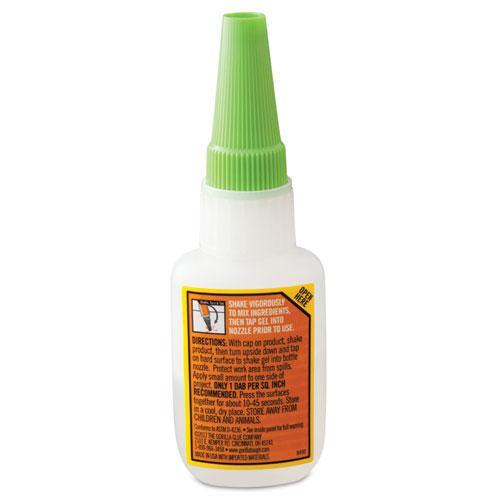 Super Glue Gel, 0.53 oz, Dries Clear, 4/Carton. Picture 6