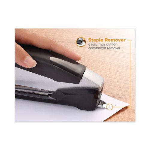 InPower Spring-Powered Premium Desktop Stapler, 28-Sheet Capacity, Black/Silver. Picture 9