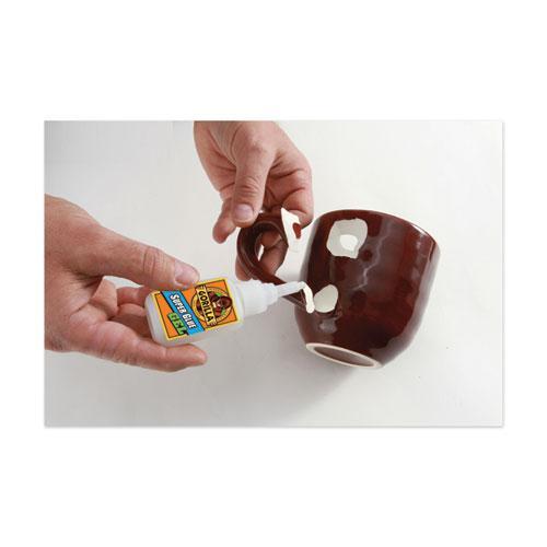 Super Glue Gel, 0.53 oz, Dries Clear, 4/Carton. Picture 9