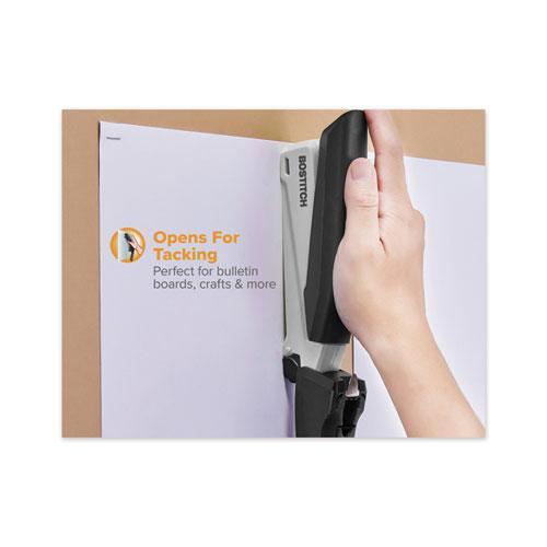 InPower Spring-Powered Premium Desktop Stapler, 28-Sheet Capacity, Black/Gray. Picture 7