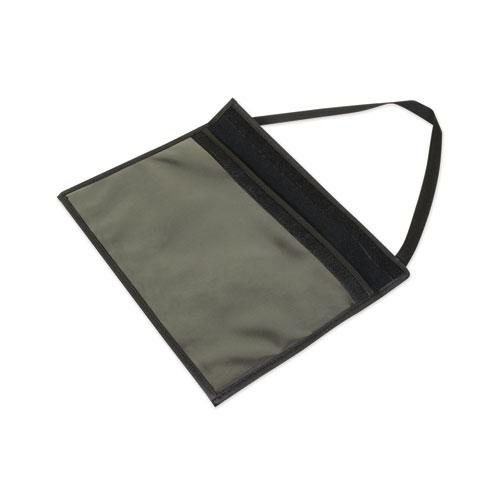 1-Pocket Shop Ticket Holder w/Strap and Black Stitching, 75-Sheet, 9 x 12. Picture 3