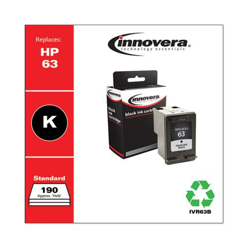 Remanufactured Black Ink, Replacement for HP 63 (F6U62AN), 190 Page-Yield. Picture 1