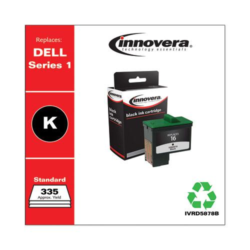 Remanufactured Black High-Yield Ink, Replacement for Dell Series 1 (T0529), 335 Page-Yield. Picture 2