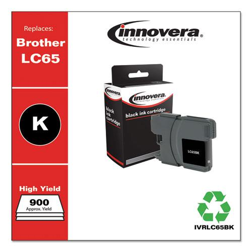 Remanufactured Black High-Yield Ink, Replacement for Brother LC65BK, 900 Page-Yield. Picture 2