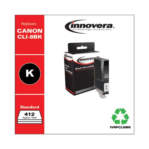 Remanufactured Black Ink, Replacement for Canon CLI8BK (0620B002), 412 Page-Yield. Picture 2