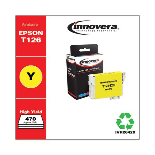 Remanufactured Yellow Ink, Replacement for Epson 126 (T126420), 470 Page-Yield. Picture 2