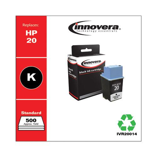 Remanufactured Black Ink, Replacement for HP 20 (C6614DN), 500 Page-Yield. Picture 2