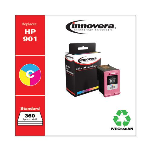 Remanufactured Tri-Color Ink, Replacement for HP 901 (CC656AN), 360 Page-Yield. Picture 2