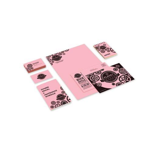 Color Cardstock, 65 lb, 8.5 x 11, Bubble Gum, 250/Pack. Picture 2