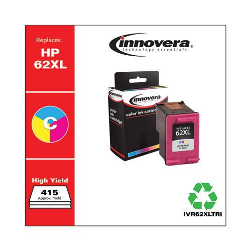Remanufactured Tri-Color High-Yield Ink, Replacement for HP 62XL (C2P07AN), 415 Page-Yield. Picture 2