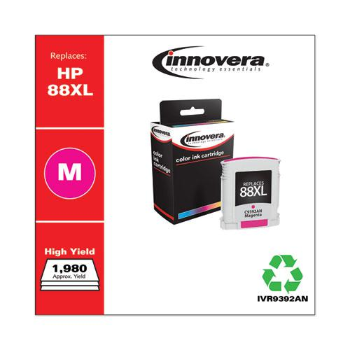 Remanufactured Magenta High-Yield Ink, Replacement for HP 88XL (C9392AN), 1,980 Page-Yield. Picture 2