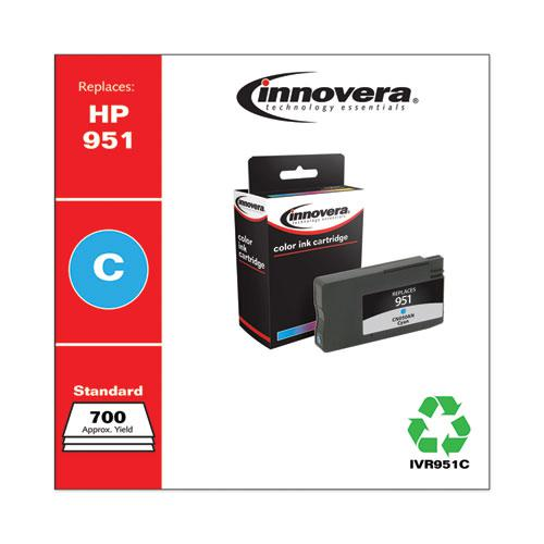 Remanufactured Cyan Ink, Replacement for HP 951 (CN050AN), 700 Page-Yield. Picture 2