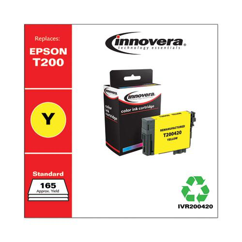 Remanufactured Yellow Ink, Replacement for Epson T200 (T200420), 165 Page-Yield. Picture 2