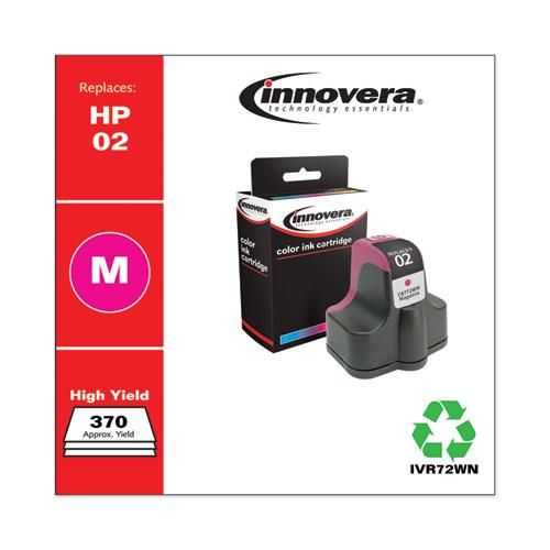 Remanufactured Magenta Ink, Replacement for HP 02 (C8772WN), 370 Page-Yield. Picture 2