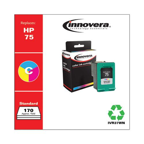 Remanufactured Tri-Color Ink, Replacement for HP 75 (CB337WN), 170 Page-Yield. Picture 2