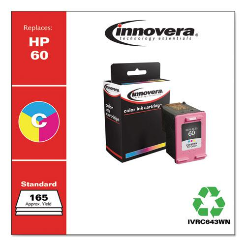 Remanufactured Tri-Color Ink, Replacement for HP 60 (CC643WN), 165 Page-Yield. Picture 2