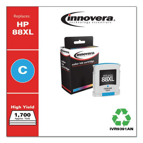 Remanufactured Cyan High-Yield Ink, Replacement for HP 88XL (C9391AN), 1,700 Page-Yield. Picture 2
