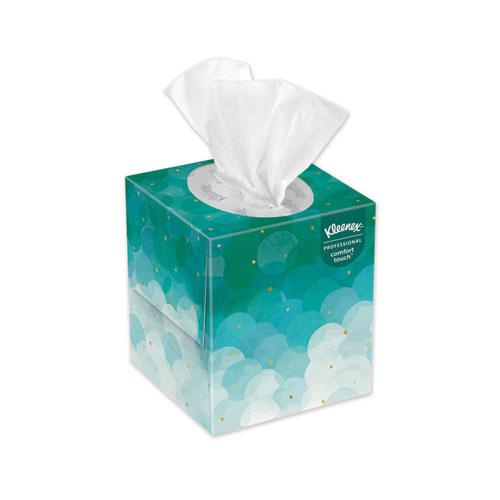 Boutique White Facial Tissue, 2-Ply, Pop-Up Box, 95 Sheets/Box, 6 Boxes/Pack. Picture 1