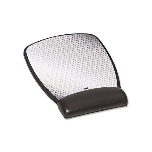3M Precise Leatherette Mouse Pad w/Standard Wrist Rest, 6-3/4 x 8-3/5