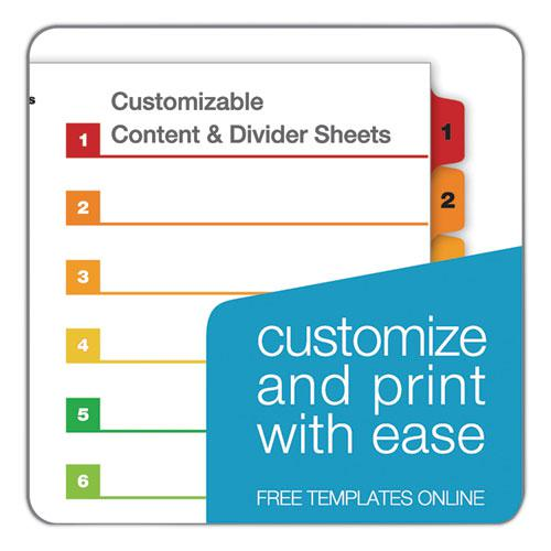 OneStep Printable Table of Contents and Dividers, 8-Tab, 1 to 8, 11 x 8.5, White, 6 Sets. Picture 8