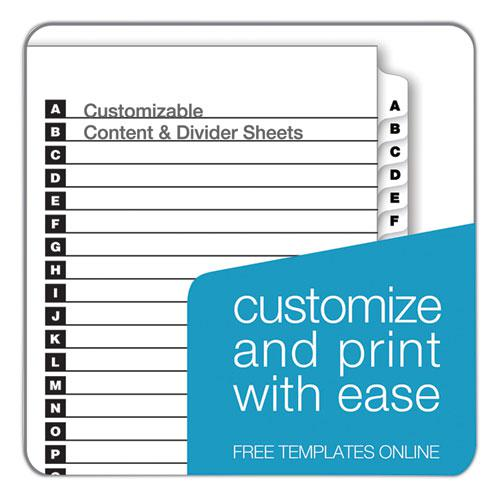 OneStep Printable Table of Contents and Dividers, 26-Tab, A to Z, 11 x 8.5, White, 1 Set. Picture 3