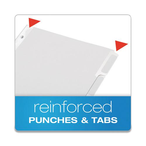 Custom Label Tab Dividers with Self-Adhesive Tab Labels, 5-Tab, 11 x 8.5, White, 5 Sets. Picture 5