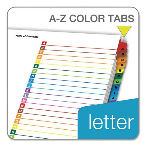 OneStep Printable Table of Contents and Dividers, 26-Tab, A to Z, 11 x 8.5, White, 1 Set. Picture 4
