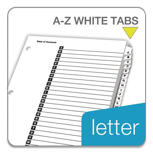 OneStep Printable Table of Contents and Dividers, 26-Tab, A to Z, 11 x 8.5, White, 1 Set. Picture 2