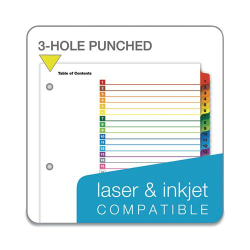 OneStep Printable Table of Contents and Dividers, 31-Tab, 1 to 31, 11 x 8.5, White, 1 Set. Picture 5