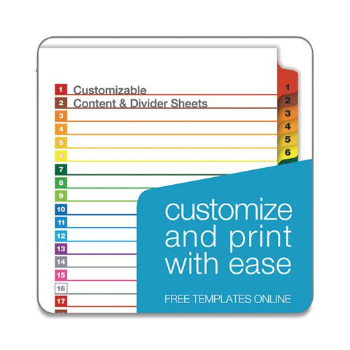 OneStep Printable Table of Contents and Dividers, 31-Tab, 1 to 31, 11 x 8.5, White, 1 Set. Picture 4