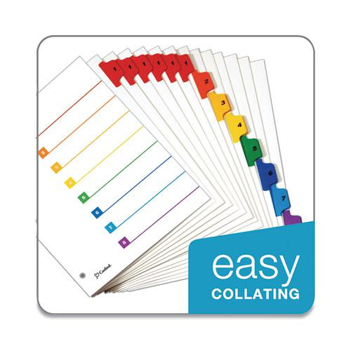 OneStep Printable Table of Contents and Dividers, 8-Tab, 1 to 8, 11 x 8.5, White, 6 Sets. Picture 6