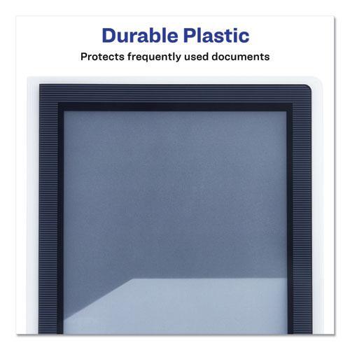 Flexi-View Two-Pocket Polypropylene Folder, Translucent/Black, 2/Pack. Picture 7